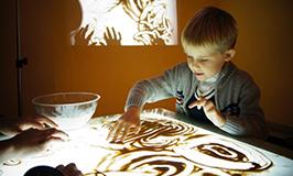 Ссылка на: Рисование песком для детей 3-7 лет